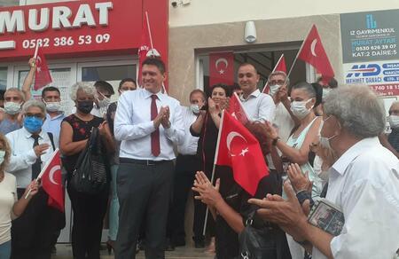 Vatan Partisi bayrağı Aksu'da Dalgalanmaya Başladı